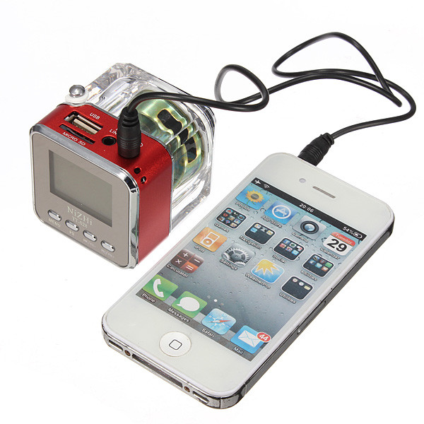 Аудио колонка LCD SD/TF FM USB iPhone iPod MP3 Mini Speaker For iPhone For Samsung mini mic speaker for iphone ipod mp3 mp4 white 3 5mm plug