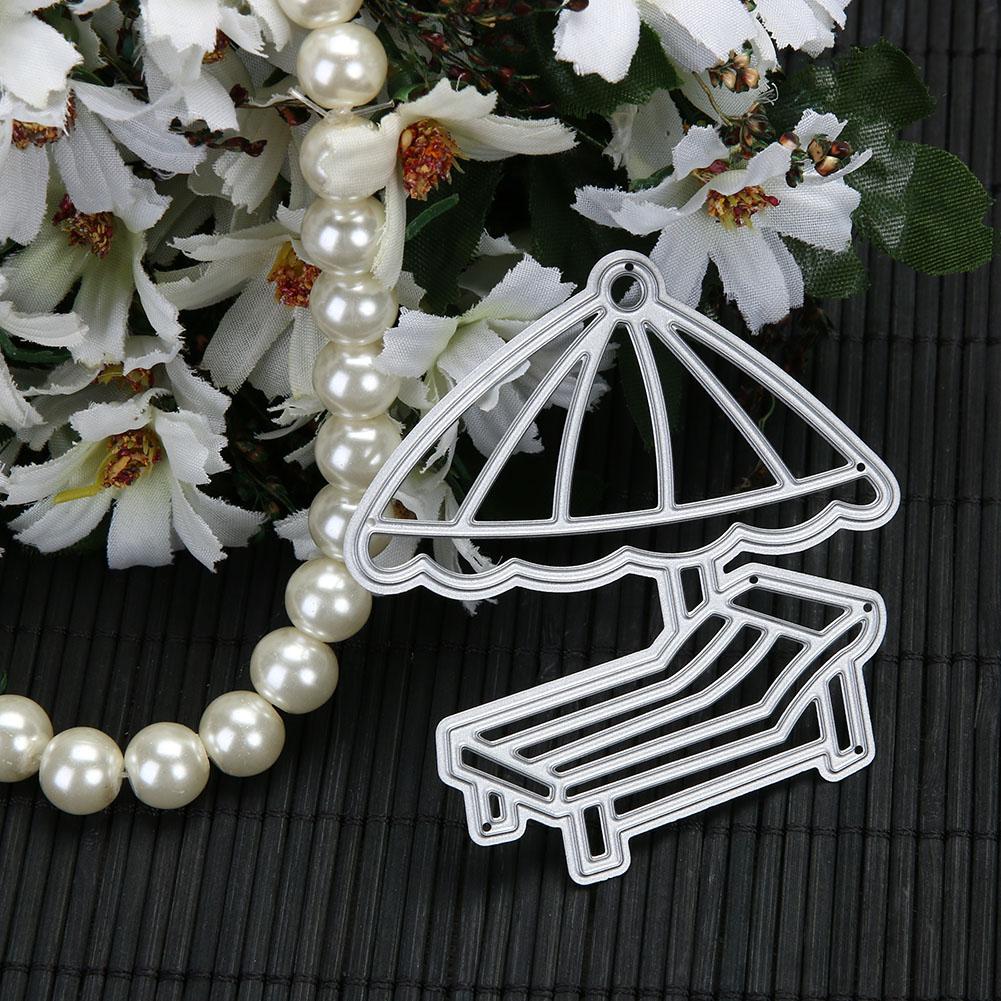 Metal Cutting Dies for Scrapbooking Beach Chair Umbrella Handmade Embossing Card Album Decoration Craft Dies Cut Die Stencils