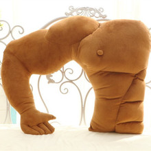 Muscular large arm styling pillow cushion