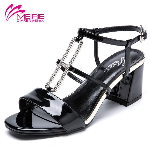 Aokang MeiRies 2016 новое поступление женская обувь женщины сандалии туфли на каблуках ...