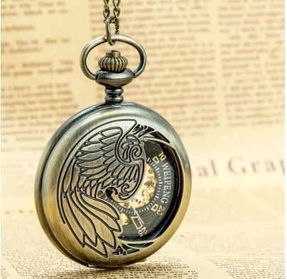 New Steampunk Retro Roman numerals Mechanical pocket watch Black watch Free shipping(China (Mainland))