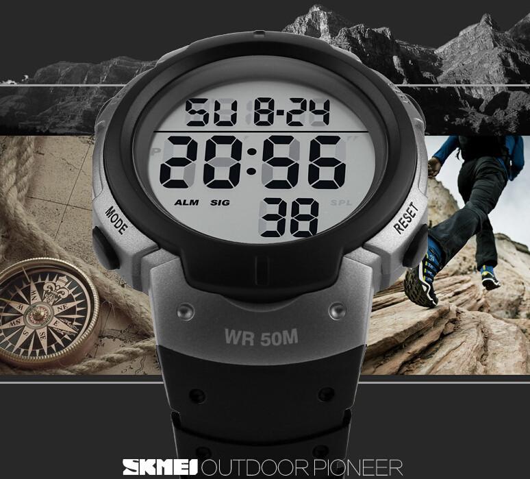 SKMEI 1068 Mens Women Digital Stopwatch Alarm 50m Waterproof Dive Swim LED Military Army Sports Watch orologio Reloj Hombre(China (Mainland))