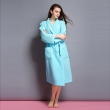 2015 new pajamas Women's summer long-sleeved robes Ms. Spring and autumn gown(China (Mainland))