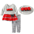 kids clothing 2015 Summer style new clothing Baby Girl's clothing sets Fashion Children Sleeveless floral shirt + shorts