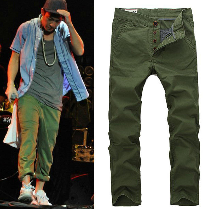 military green pants men - Pi Pants