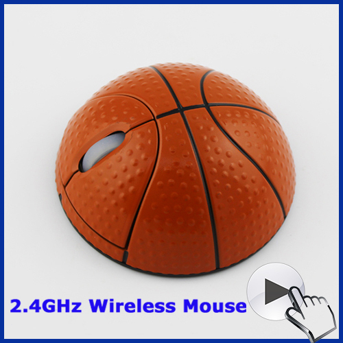 2016 New Free Shipping Cheap Computer Funny Mouse 2.4g Mini Wireless Basketball Mause for Men Laptop Computer Antiskid Red(China (Mainland))