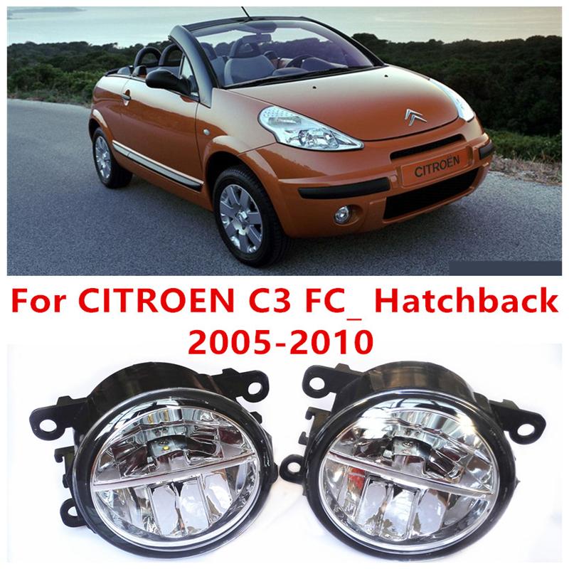 For CITROEN C3 FC_ Hatchback  2005-2010  10W Fog Light LED DRL Daytime Running Lights Car Styling  <br><br>Aliexpress