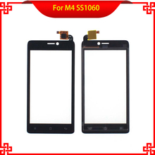 100% Original Touch Screen For M4 SS1060 S1060 1060 Free Tools Black color Mobile Phone Touch Panel