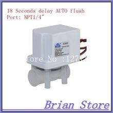 "1/4"" npt Female thread connection NC Plastic Electric Water Solenoid Valve 18 seconds AUTO Flush valve(China (Mainland))"