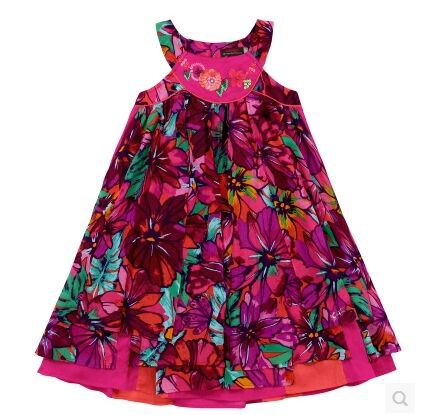 2015 new summer French style girls Beading floral print short-sleeve princess tutu dress baby Catimini designer dress<br><br>Aliexpress