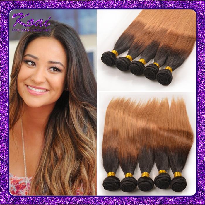 1b/27 Ombre Brazilian Hair Straight 3PCS 1b/4/27 Three Color Brazilian Straight Virgin Hair Remy Human Hair Ombre Hair Extension(China (Mainland))