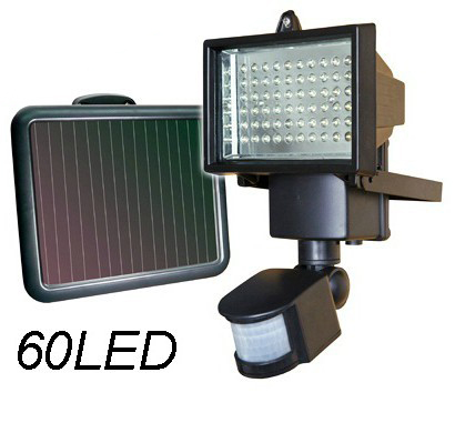 60led solar panel security light outdoor floodlight lamp - Focos led exterior solares ...