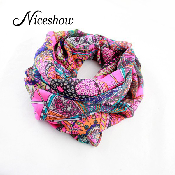 Ethnic Style Charming Scarves Traditional Design Vintage Winter and Autumn Scarf For Women Accessories