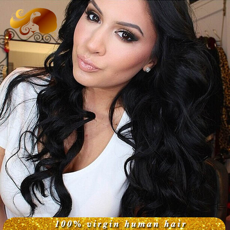Фотография Free Part Full Lace Human Hair Wigs Bleached Knots Brazilian Virgin Hair Lace Front Wig WIth Baby Hair Full Lace Wig For Women
