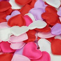 300pcs сердечная форма свадебного цветка лепестки 4,5 * 4 см искусственного свадебного стола бросать конфетти комната украшение партии поставки