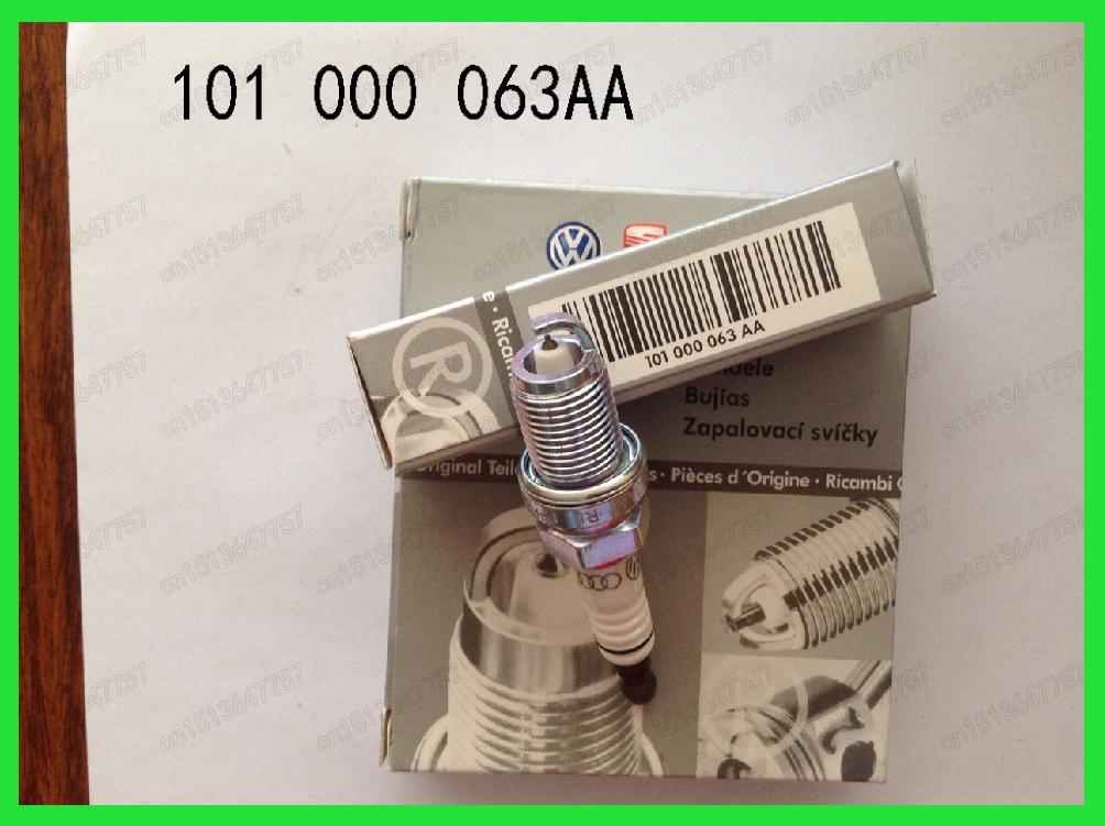 4pcs/lot NGK 101000063AA Audi Volkswagen special double platinum spark plugs for Passat 1.8T2.0T Audi C6 PFR6Q 101 000 063 AA