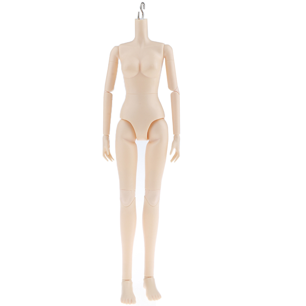Flexible 16 Joints 1/4 BJD SD Modern Girl Naked Body without Head Normal Skin, for OB Kurhn Doll Custom Use - Little Breast