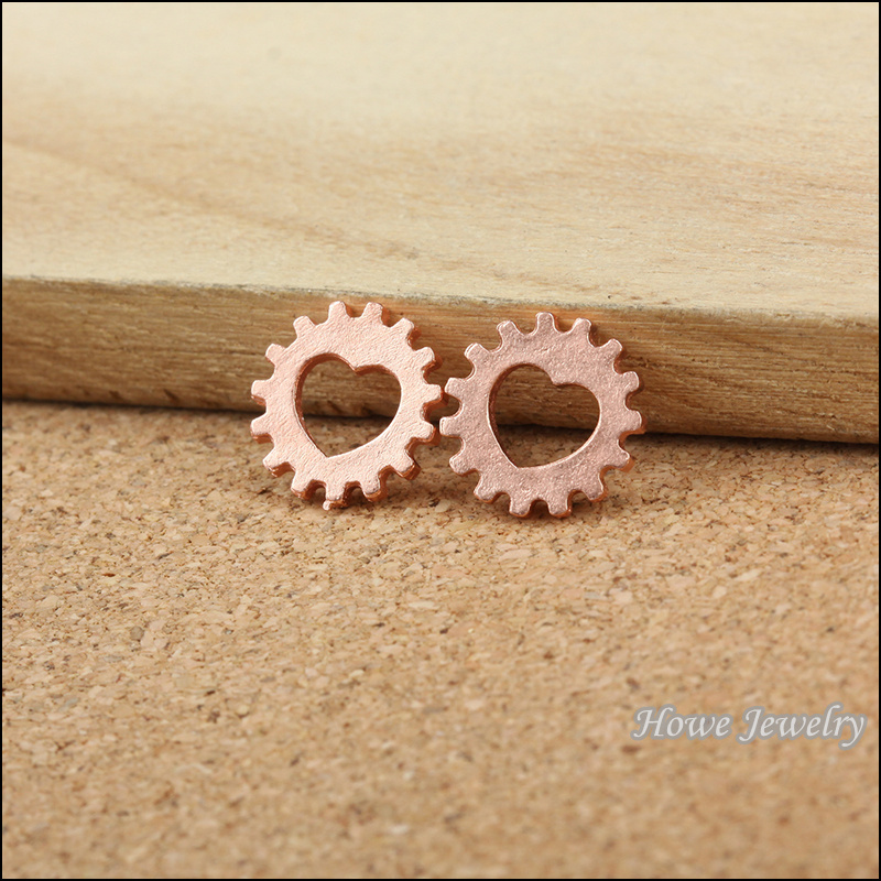 400 pcs Zinc alloy rose Gold plated love heart shape Steampunk Gear pendant fits Charm DIY Women's Fashion jewelry Making 80048(China (Mainland))