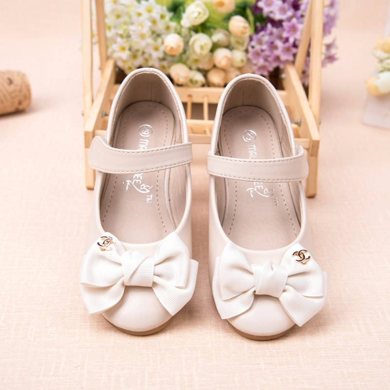 3 12 year kids girls shoes bowtie girl 39 s dress shoes hook for Girls dress shoes for wedding
