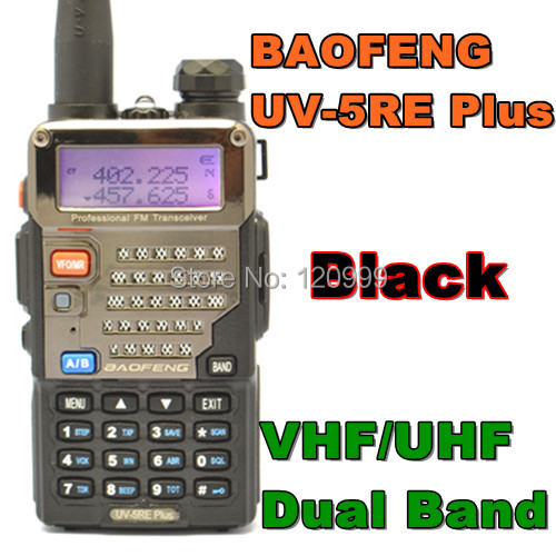 BAOFENG UV-5RE PLUS VHF/UHF Dual Band Radio Two Way Radio Walkie Talkie Handheld Tranceiver Portable HAM & CB & FM Radio(China (Mainland))