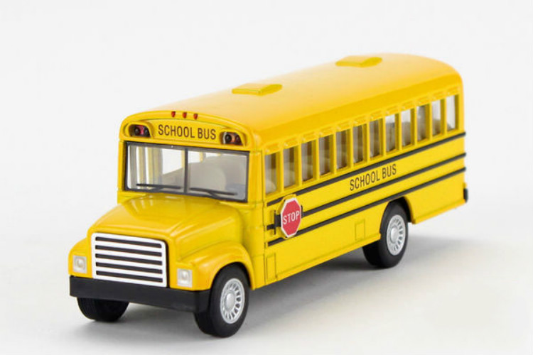 Alloy School Bus Scale Model Die cast Bus Toys Pull Back Boys Toys Best Gift Collection(China (Mainland))