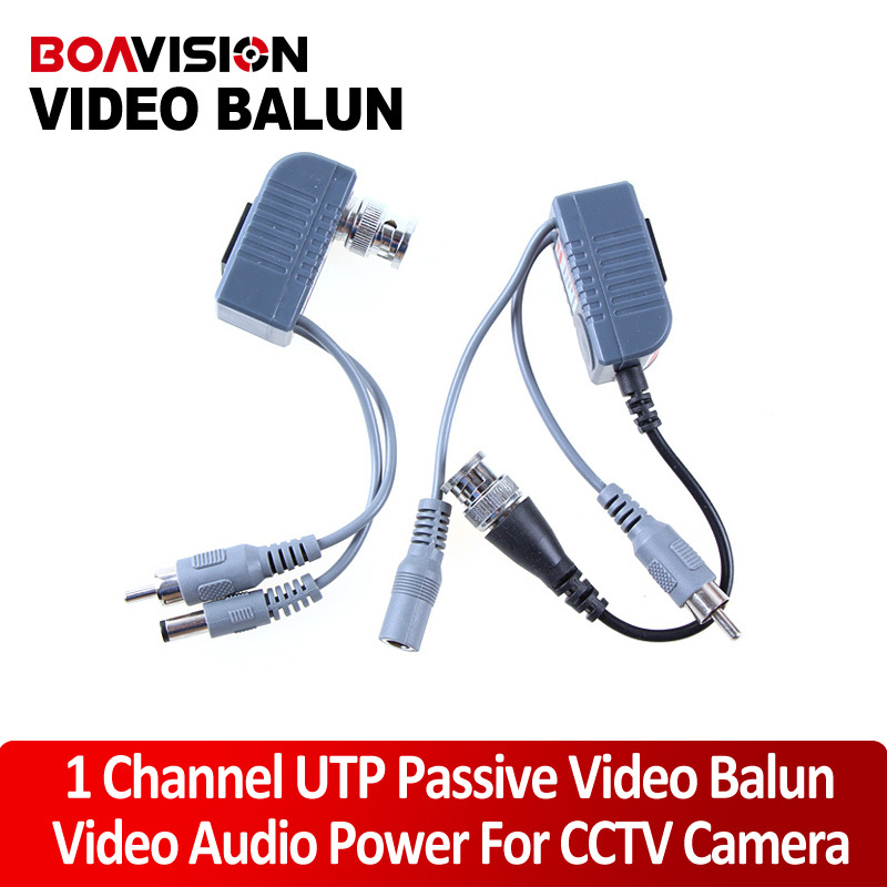 CCTV CAT5 RJ45 Balun Video Audio Power For Camera Passive Video Balun Transceiver(China (Mainland))