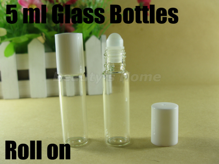 5ml roll perfume bottles glass empty small refillable bottle lip gloss container #1905 - Packing Supplier(Bottles and Jars store)