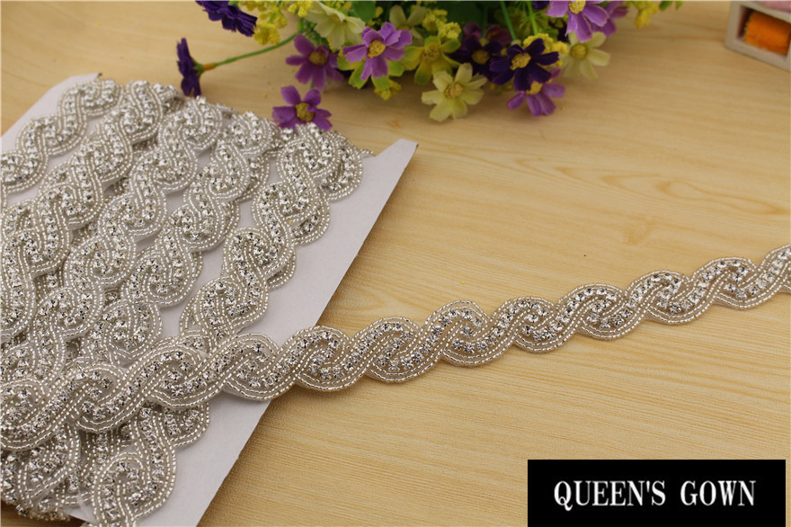 Aliexpress Buy Rhinestone Decorative Rhinestone Trim For Wedding Dresses Chain Strass