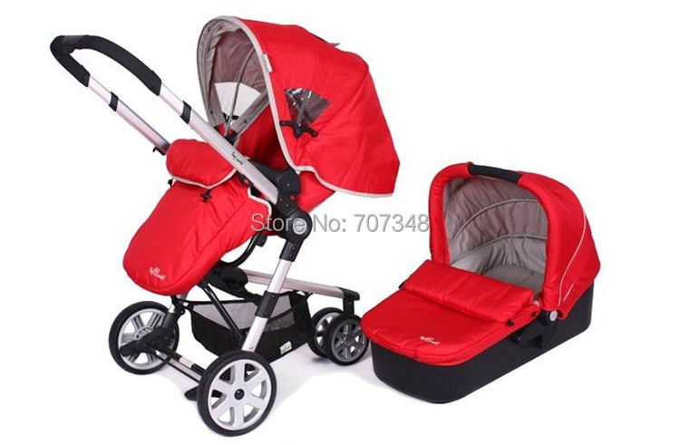 baby strollers and car seat red color green color and black color after folding can be dragged. Black Bedroom Furniture Sets. Home Design Ideas