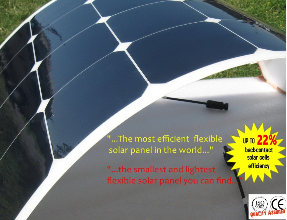 Best quality Light Weight Semi Flexible Solar Panel 100W camping,caravan usage 100w flexible solar panel(China (Mainland))