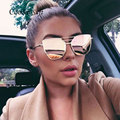 Coodaysuft Flat Top Rose Gold Men Women Mirror Sunglass Fashion Brand Designer Cool Sun Glasses wholesale
