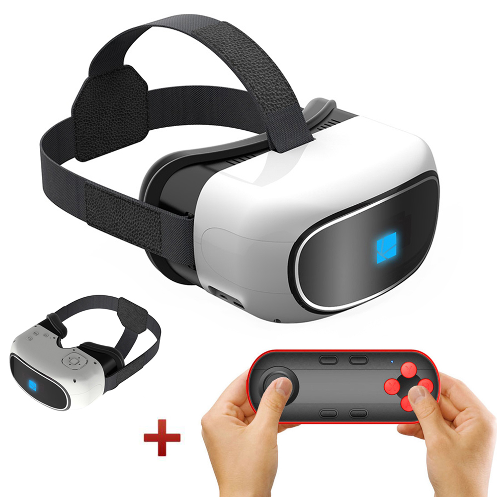 All-in-one 3D VR Box Virtual Reality Headset 5.0 Inch TFT HD Screen Immersive Glasses WiFi Bluetooth Google Cardboard Case Vrbox(China (Mainland))