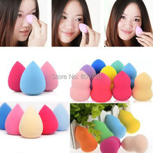 1PC Hot Drop Gourd Sponge Powder Puff Flawless Foundation Makeup Beauty Foundation Blender Make Up Tool Free Ship(China (Mainland))
