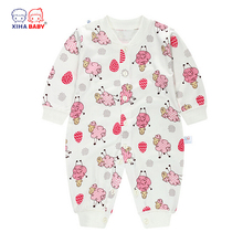 XIHA BABY Jumpsuit Kids Clothes  Bamboo Fiber Infant Romper High Quality Toddler Body Suit Cute Sheep Long Sleeve Clothing Sets(China (Mainland))