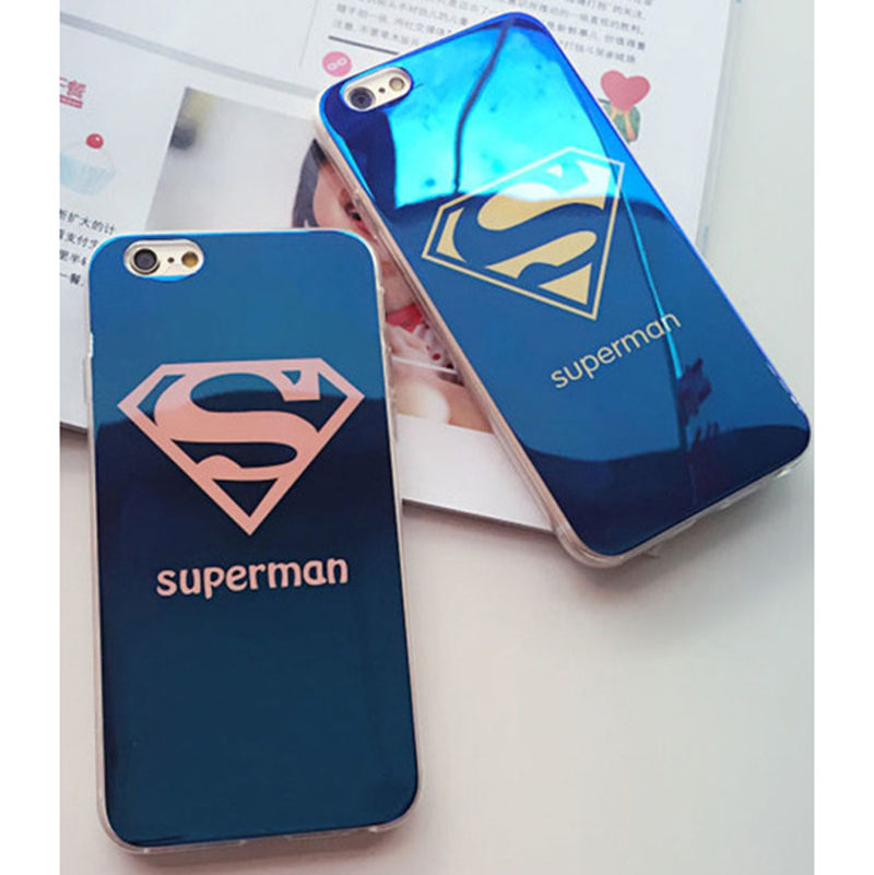 "Superman Blue light Phone Case For Apple iPhone 6 6S plus 5.5"" 5 5S SE Blu Ray Lovers Superhero Couqe Cover For iPhone 6 6s 4.7""(China (Mainland))"