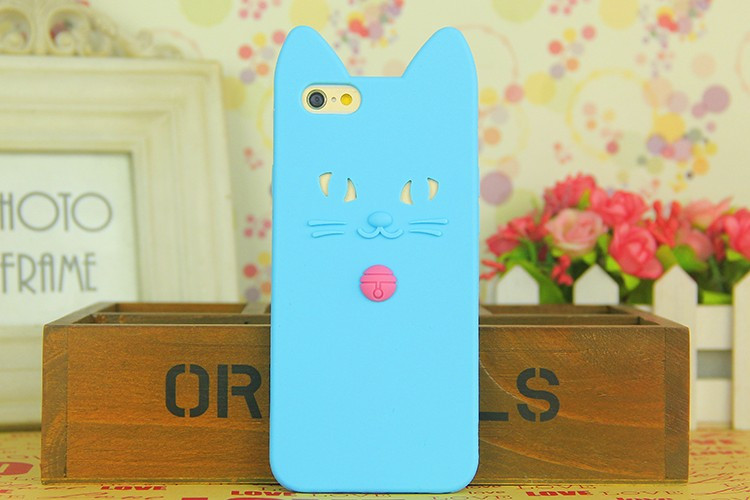 3D Girl Cartoon Pink Cat Cute Soft tpu Silicone Coque fundas Back Cover Case for iphone 6 S 6S 6 plus 6S plus 6plus Silicon