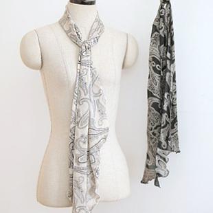 Simple and elegant roll-up hem scarf silk scarf m0078