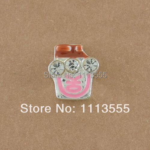 F437 Cheapest Wholesale Floating Locket Charms,Origami Owl Ice Cream Floating Charms, 20pcs/lot(China (Mainland))