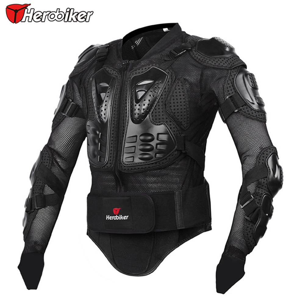 HEROBIKER Professional Motorcycle Body Protection Motorcross Racing Full Body Armor Spine Chest Protective Jacket Gear M-XXXL(China (Mainland))