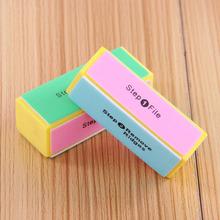 2 Pcs Professional Colorful 4 Way Nail File Buffer Polishing Block Sanding Nail Art Manicure Sponge Setback Nail Art Tools YY495(China (Mainland))