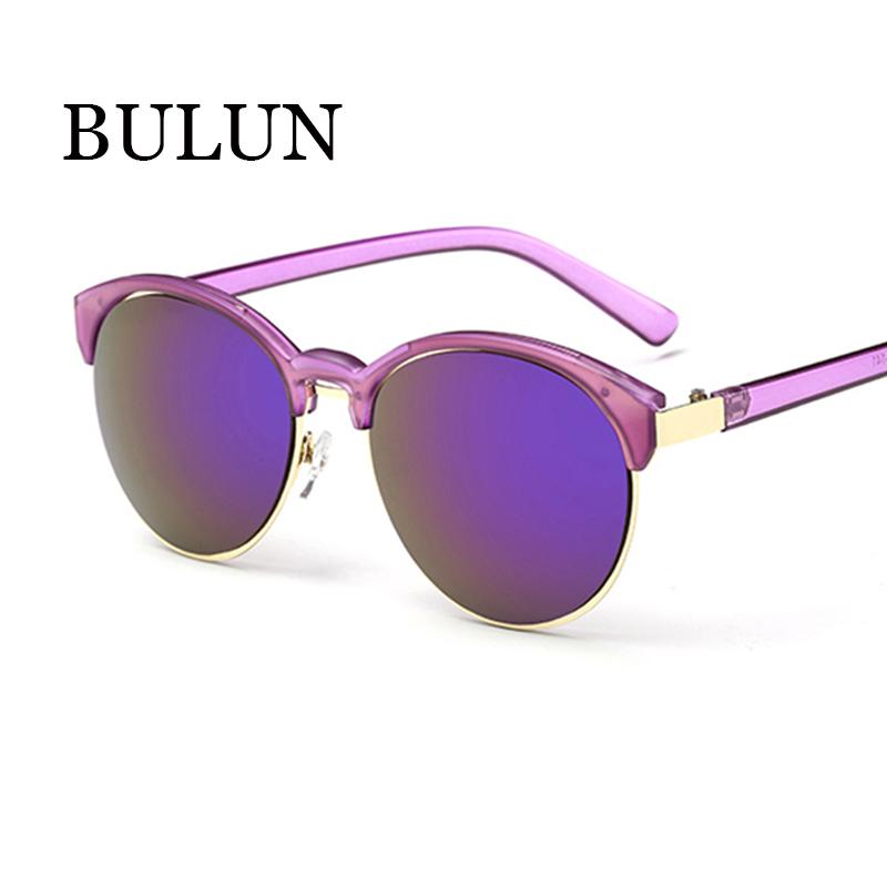 BULUN Vintage Semi Rimless Sunglasses Women Brand Designer ...