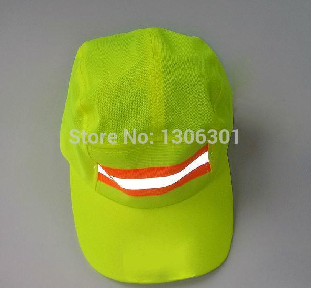 Reflective sanitation garden cap environmental safety helmet cleaner cap outdoor travel cap round cap size adjustable(China (Mainland))