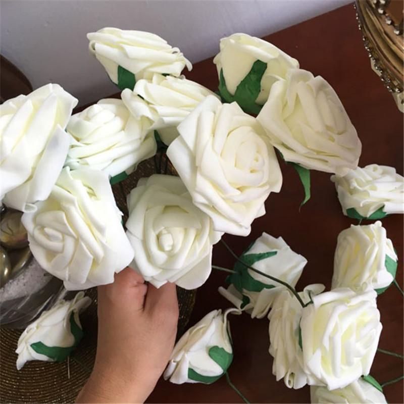 10 Heads 8CM Artificial Rose Flowers Wedding Decorations Silk Flower Ball Centerpieces Mint Decorative Hanging Flower(China (Mainland))