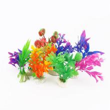 10Pcs/lot Plastic Aquarium Plants Plantas Artificiales Decorative Fish Plant Accessories Aquario Ornament Decor Landscape(China (Mainland))