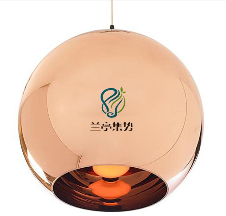 dia 40cm copper shade mirror ball pendant light dining. Black Bedroom Furniture Sets. Home Design Ideas