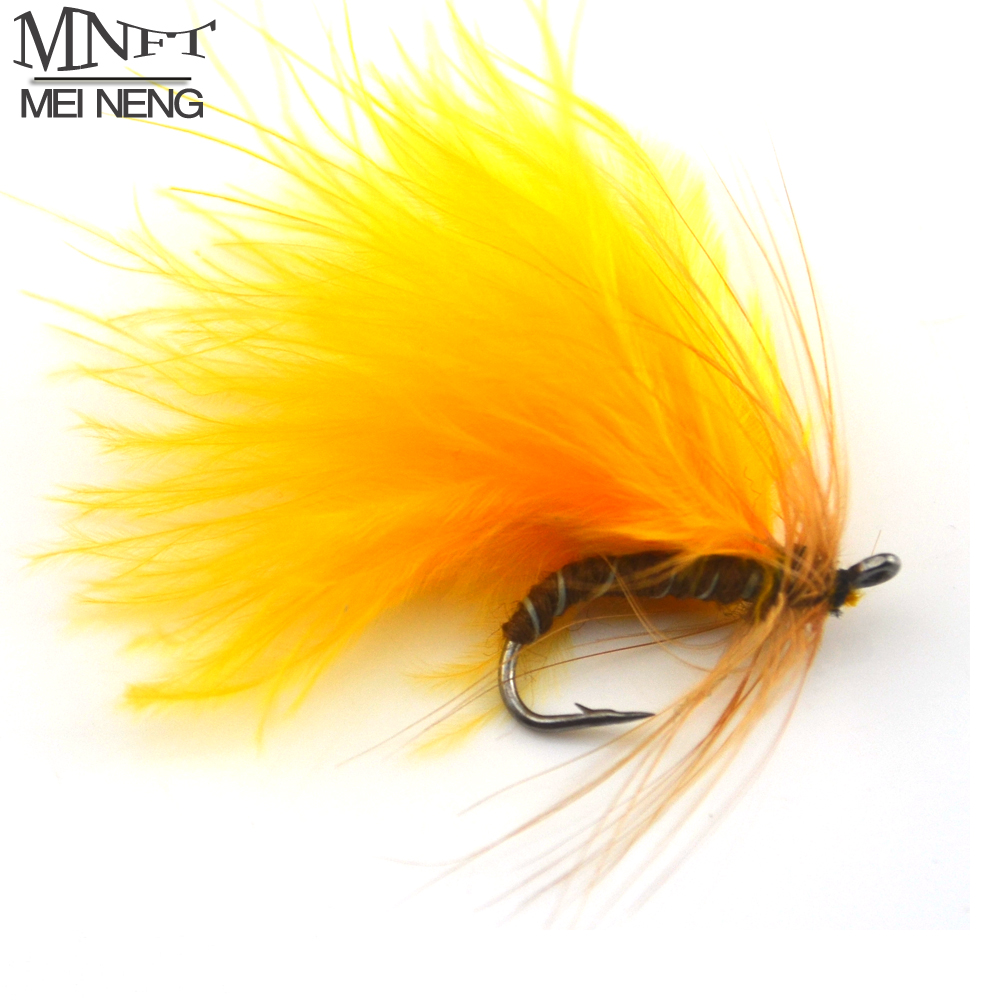 Wholesale Fly Fishing Flies: MNFT 10PCS 7# Color Yellow Nymph Trout Fly Fish Trout