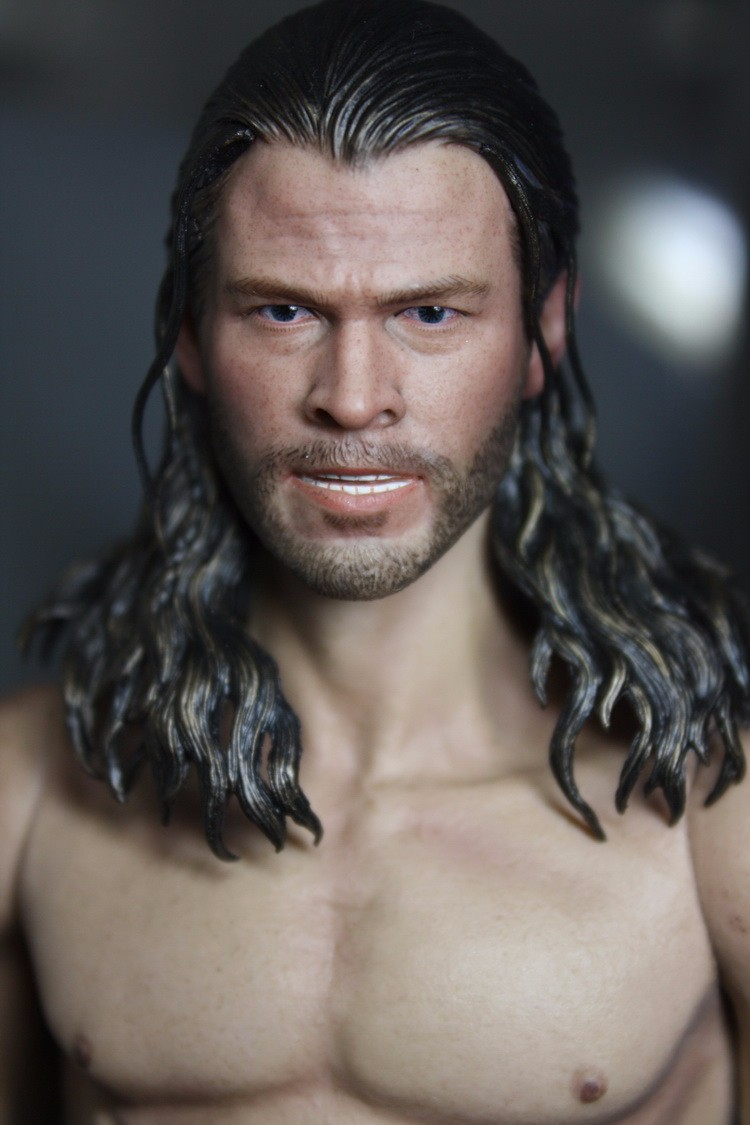 Darkish World 2 1/6 Scale Thor Head Sculpt Non HT Male Motion Determine Head Carving Mannequin Assortment Doll Toys Equipment