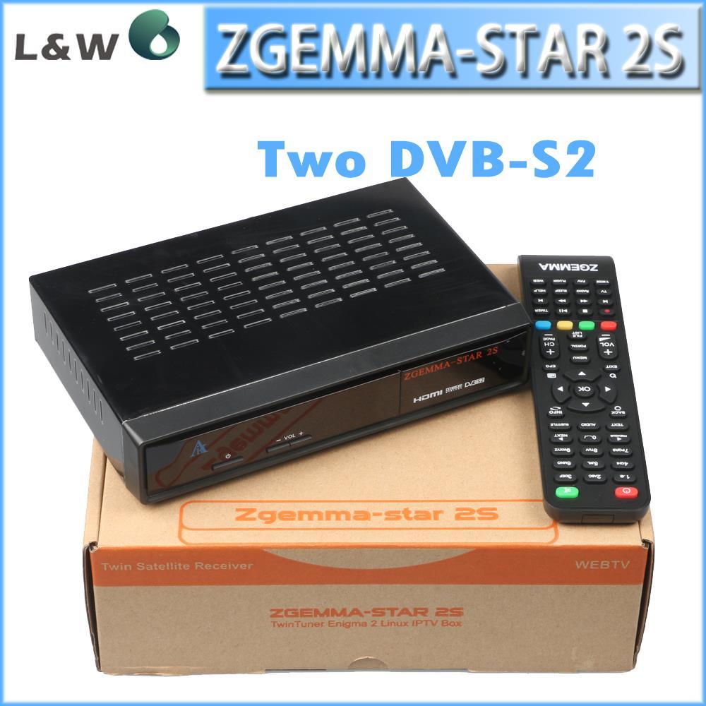 Zgemma-star 2s Twin DVB-S2 Tuner MPEG2-4/ H.264 Hardware Decoding Support IPTV