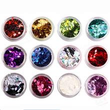 12 pz colori di arte del chiodo blink lovertiful in colori acrilici 3d rhombus glitter paillettes forma powder set(China (Mainland))