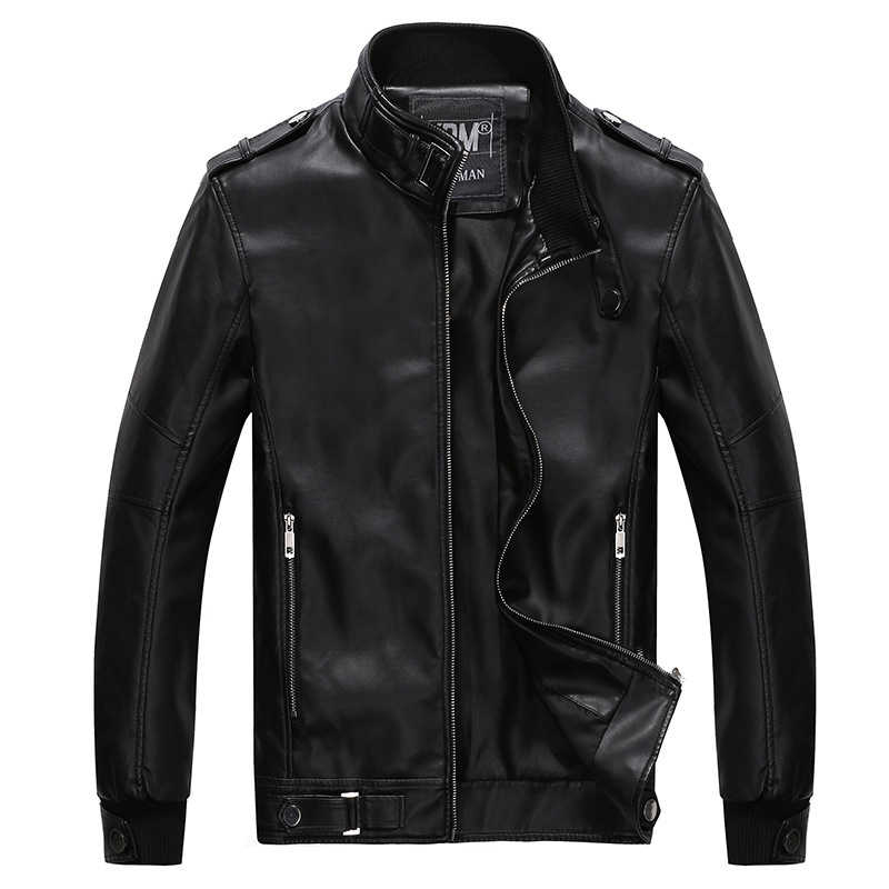 New 2015 Fashion Autumn&Winter+Leather Jacket Men+PU Coat Motorcycle Slim+Jacket+ M-3XL+Leather Jacket Men+Outwear